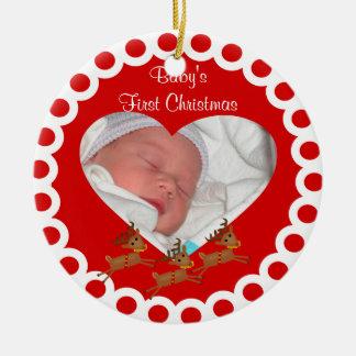 Primer ornamento del recuerdo del navidad de Babys Ornaments Para Arbol De Navidad