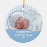 Primer ornamento Elelphant de la foto del navidad  Ornamentos Para Reyes Magos