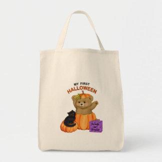 Primer oso de peluche de Halloween Bolsa Tela Para La Compra