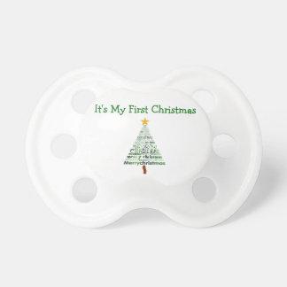 Primer pacificador del navidad chupetes de bebe