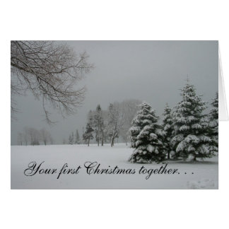 Primer paisaje del junto-Invierno del navidad Felicitación