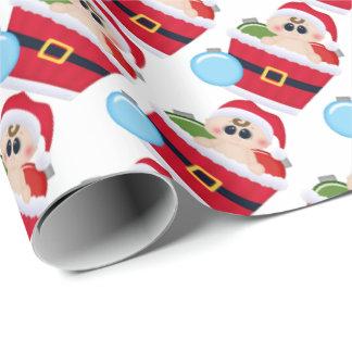 Primer papel de embalaje del navidad del bebé papel de regalo