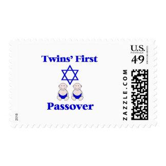 Primer Passover de los gemelos Sello Postal