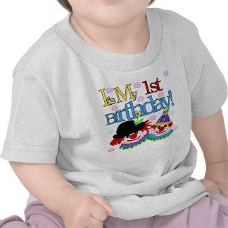Primer payaso del cumpleaños camiseta
