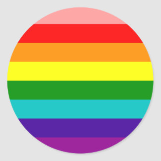 Primer pegatina de la bandera del orgullo gay del