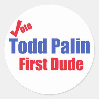 Primer pegatina del tipo de Todd Palin