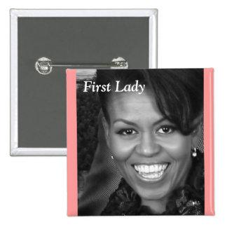 primer perno de la señora de Michelle obama Pin