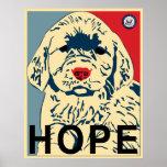 primer perrito de obama - esperanza posters