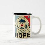 primer perrito de obama - esperanza tazas de café