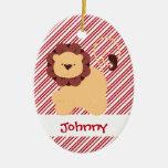 Primer personalizado del león del bebé del navidad ornaments para arbol de navidad