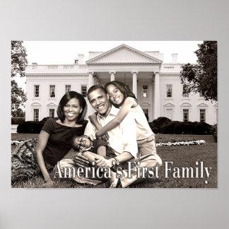 Primer poster de la familia de América