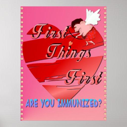 Primer poster de las tarjetas del día de San Valen