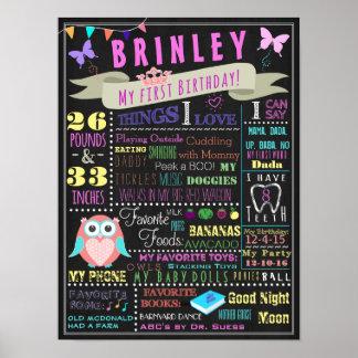 Primer poster del cumpleaños de la niña