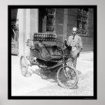 Primer premio 1924 del auto con tres ruedas poster