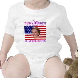 Primer presidente de la mujer camiseta
