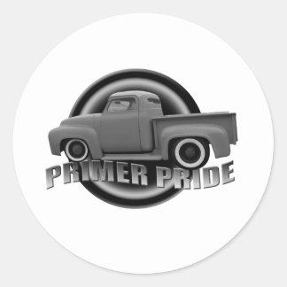 Primer Pride Classic Round Sticker