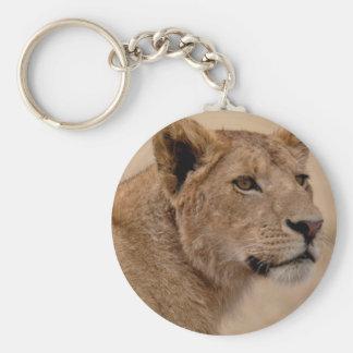 Primer principal de la leona llavero redondo tipo pin