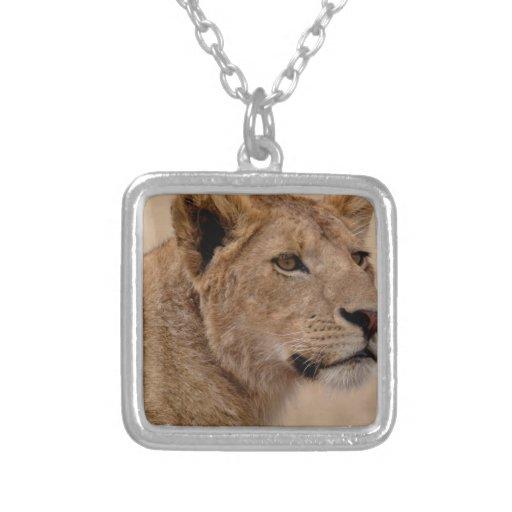 Primer principal de la leona pendientes