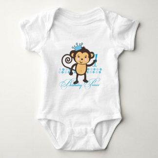 Primer príncipe Shirt del mono del cumpleaños Playera