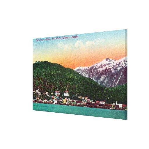 Primer puerto de entrada en la opinión de Alaska Impresión En Lienzo Estirada
