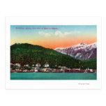 Primer puerto de entrada en la opinión de Alaska Tarjetas Postales