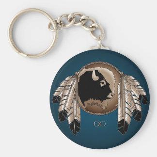 Primer recuerdo de los regalos del arte de la llavero redondo tipo pin