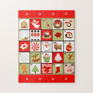 primer regalo del navidad del bebé personalizado puzzle