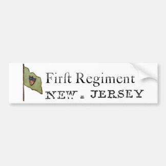 Primer regimiento de New Jersey, línea continental Pegatina De Parachoque