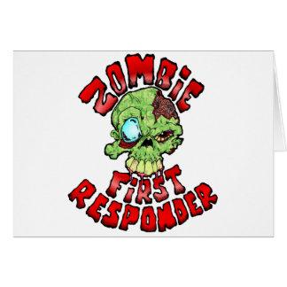 Primer respondedor del zombi tarjetas