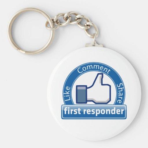 Primer respondedor llavero personalizado