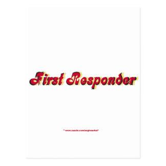 Primer respondedor tarjetas postales