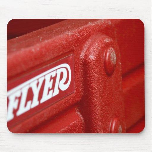 Primer rojo Mousepad del carro del aviador de radi Alfombrilla De Ratones