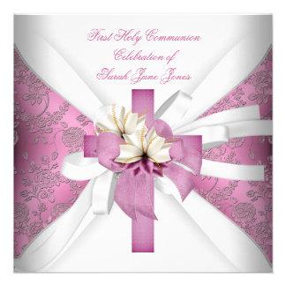 Primer rosa blanco de la comunión santa del chica comunicados personales