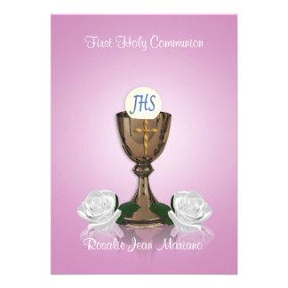 Primer rosa de la invitación de la comunión