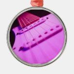 Primer rosado 2 de la guitarra eléctrica del tono ornamento para arbol de navidad