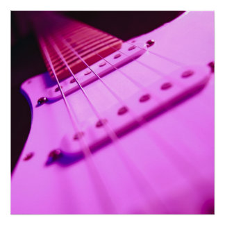 Primer rosado 2 de la guitarra eléctrica del tono póster