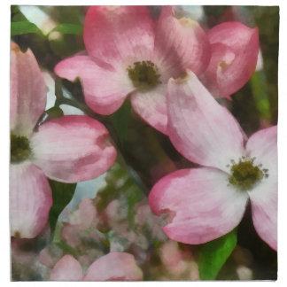 Primer rosado del Dogwood Servilleta Imprimida