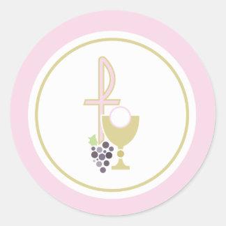 Primer sello del sobre de la comunión o pegatina