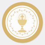 Primer sello del sobre de la comunión o pegatina d