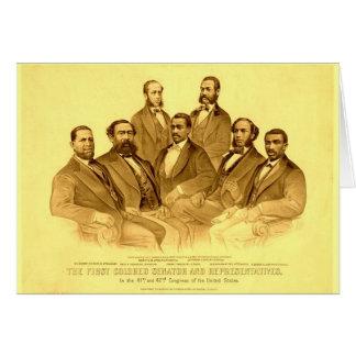 Primer senador y representantes afroamericanos tarjeta pequeña