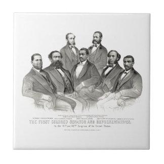 Primer senador y representantes coloreados teja cerámica