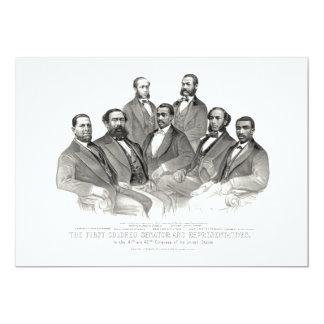 """Primer senador y representantes coloreados invitación 5"""" x 7"""""""