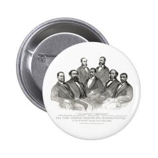Primer senador y representantes coloreados pin redondo 5 cm