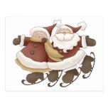 Primer Snowel · Santa y señora Claus Tarjetas Postales