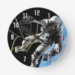 Primer Spacewalker americano Reloj Redondo Mediano
