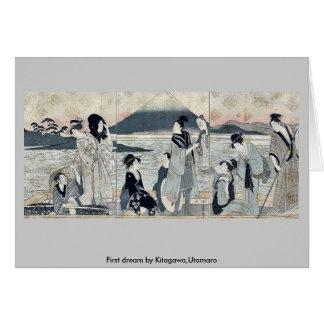 Primer sueño por Kitagawa, Utamaro Tarjeta De Felicitación