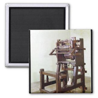 Primer telar para las medias que tejen, 1750 imán cuadrado