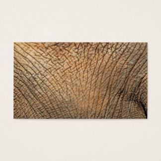 Primer tirado de la piel de un elefante tarjetas de visita