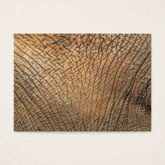 Primer tirado de la piel dura de un elefante tarjetas de visita grandes