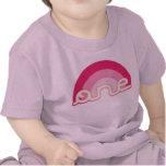 Primer top del cumpleaños del rosa uno camiseta